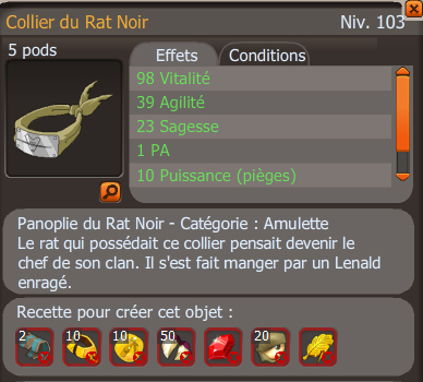 Collier du rat noir