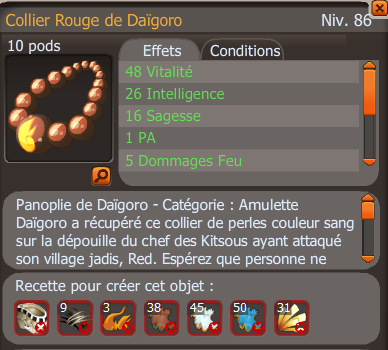Collier rouge de daigoro