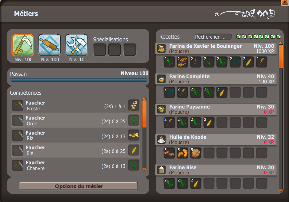 Monter Paysan Level 100 Dofus 129